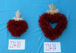 Chile Piquin Heart Shaped Wreath